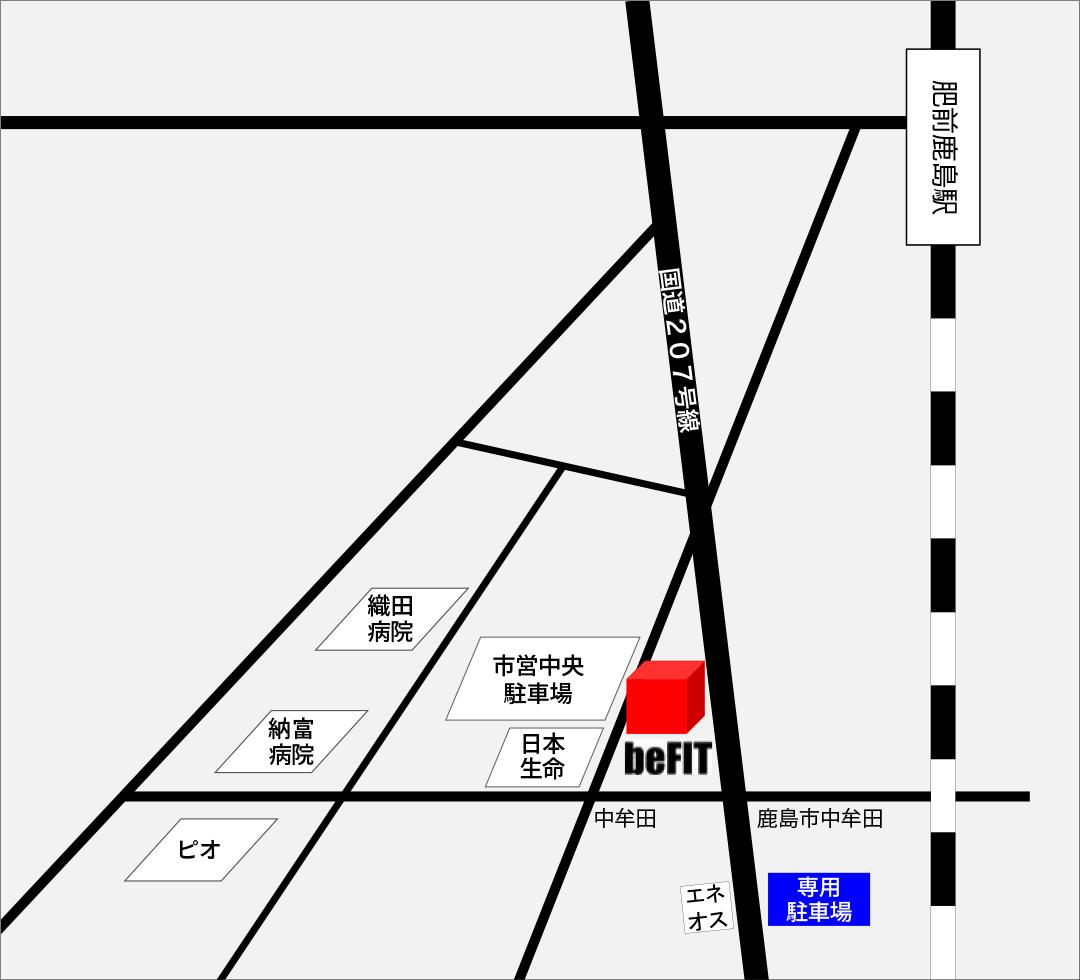 beFIT専用駐車場